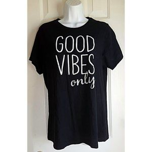 Good Vibes Only Fitted Tee Jr XXL Women XL